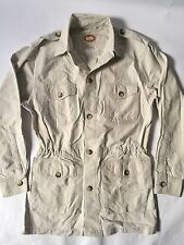 VTG Banana Republic Safari 100% Cotton Bush Jacket Cinch Waist Mens S Womens M