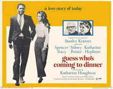 GUESS WHO'S COMING TO DINNER Movie POSTER 22x28 Half Sheet Katharine Hepburn