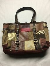 Coach Holiday Patchwork Multicolor Leather and Suede Bag 10437