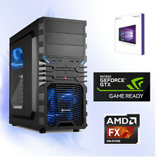 GAMER PC AMD-FX-6300 6x@4,10GHz+16GB+Nvidia GTX1060 6GB-USB 3.0-WIN10 PRO-HDMI