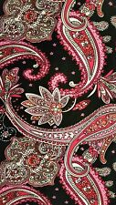 Pink Black Paisley Print Leggings ONE SIZE OS