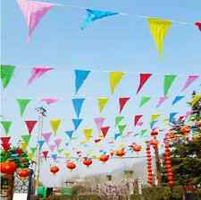 Wholesale Outdoor Rainbow Bunting Party Flag Banner Birthday Party Market Stalls