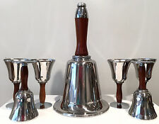 "Vintage 1930s ""Town Crier"" Art Deco Ringing Bell Cocktail Shaker Set"