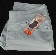NWT JAG Amelia Ankle PULL-ON JEANS  Aqua Blue Size Slim Fit Size 14 Wide Waist