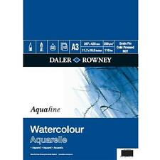 DALER ROWNEY A3 AQUAFINE WATERCOLOUR PAPER 300gsm NOT 12 SHEETS ARTIST PAINT PAD