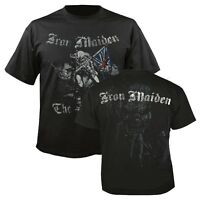 Official IRON MAIDEN Sketched Trooper T-shirt Black/2-sided Sizes S to XXL Eddie