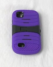 Design Protector Hard Cover Case for AT&T Avail 2 /ZTE Z992 Phone Purple & Black