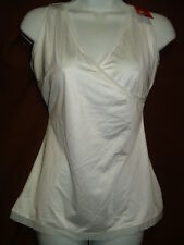 NEW SPANX SLIMPLICITY SLIMMING ESSENTIALS 988 WHITE WRAP FRONT CAMISOLE/TANK XL