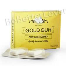 Gold Gum | 2 x Libido Booster, Sexual Enhancement Chewing Gums | Free Delivery