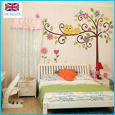Cute Colorful Owls / Flower / Tree/ nursery children's/baby's room wall stickers