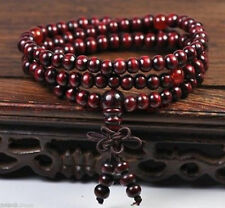 New 6mmTibetan Sandalwood Buddhist Buddha Prayer Beads Mala Bracelet 108pcs A55