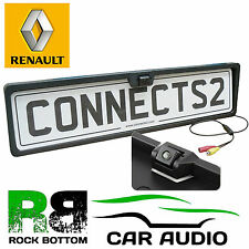 RENAULT CLIO Rear View Reversing Parking Colour Camera & Car Number Plate Frame