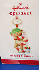 2013 HALLMARK My Third Christmas Child's Age Series Stickers to date Ornament