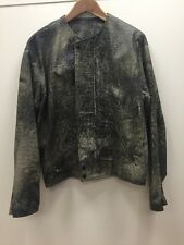 Yohji Yamamoto Vintage Sandblasted Leather Moto Jacket Deadstock NWOT SAMPLE M