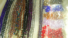 Joblot of 16 strings (1152 beads) 12mm Mixed colour Crystal beads new lot A