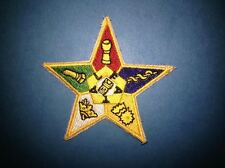 Masonic Freemasons Order Of The Eastern Star Hat Jacket Sew On Patch Crest D