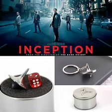 Inception Totem Zinc Alloy Silver Accurate Spinning Top Gyro+Dice+Gyro Keyholder