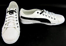 Puma Shoes Benecio Athletic Canvas White/Black Sneakers Size 13 EUR 47