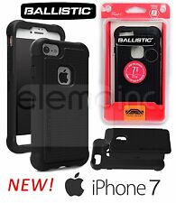 BALLISTIC Tough Jacket Rugged Impact Dual Case Cover for Apple iPhone 7 - BLACK
