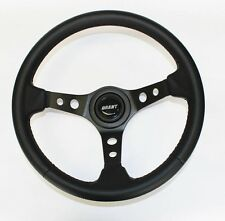 Jeep Wrangler YJ CJ5 CJ7 Cherokee Black Carbon Fiber Look Steering Wheel 13 3/4""