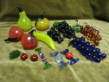 Bel ensemble fruits et bonbons verre de Murano (Murano glass fruits & candies)