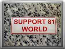 "HELLS ANGELS Support 81 Sticker Aufkleber ""SUPPORT 81 WORLD"""