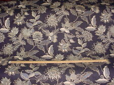 8Y MICROFIBRES PRINTED INDIENNE FLORAL COTTON DRAPERY UPHOLSTERY FABRIC