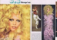 COUPURE DE PRESSE CLIPPING 1968 Brigitte Bardot  (2 pages)