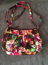 VERA BRADLEY Frannie Shoulder Crossbody Bag in the English Rose pattern- EUC
