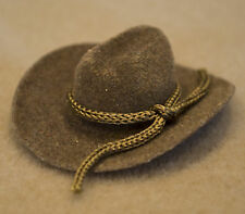 Light Brown COWBOY HAT for 1:9 or 1:12 Model Scale Doll Riders with SMALL HEADS