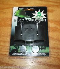 5 LED Cap Light / Headlamp Attaches to Cap Brim100,000+ Burn Time