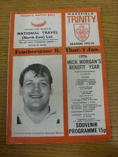 01/01/1976 Rugby League Programme: Wakefield Trinity v Featherstone Rovers  (mar