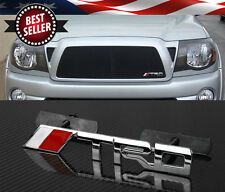"5.7"" x 0.8"" Bolt On Front TRD Red Chrome Grill Grille Emblem Decal    Logo Badge"