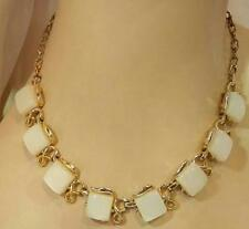 Pretty White Moonglow Thermoset Vintage 50's Necklace See Text 42AG6