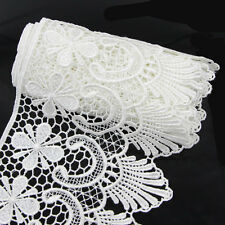 2 Yds Wide Fabric Crochet Lace Trim Sewing Trimming Edge Wedding Ribbon Craft