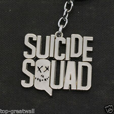 New in Box Suicide Squad Letters Design Metal Keychain Keyring Silver Color