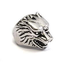 Anello in acciaio in metallo Wolf-Gothic Biker Rock-Stark, Grande Inverno, META-Lupo 71 SEK