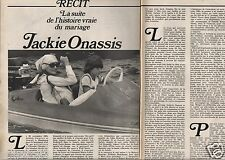 Coupure de presse Clipping 1972 Jackie Onassis  (4 pages)