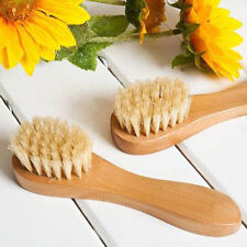 Wooden Soft Bristle Face Body Cleaning Facial Wash Brush Exfoliating Skin Scrubs