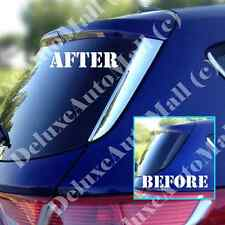"Chrome ""Stick-On"" Rear Window Covers FOR 2013 2014 2015 Ford Escape Kuga"
