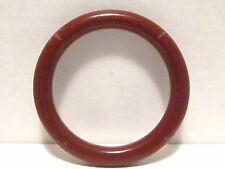 Bakelite Carved Bangle Bracelet,Burgundy Red,Size 7.85
