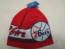 ADIDAS NBA CUFFLESS KNIT BIG LOGO BEANIE CAP HAT PHILADELPHIA 76ERS