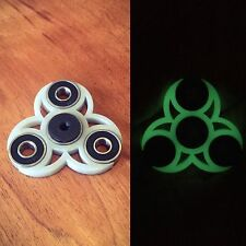 Glow In The Dark Fidget Spinner EDC w REDS center bearing for *extra fast spins*
