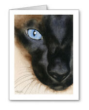 SIAMESE CAT Set of 10 Note Cards With Envelopes