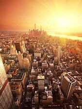 DT NEW YORK BIRDS EYE VIEW SUNRISE ART POSTER PRINT BMP10814
