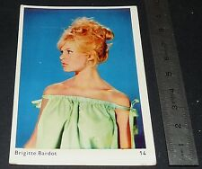 CARTE PHOTO 1963 BRIGITTE BARDOT CINEMA FILM ACTEUR ACTRICE ARTISTE