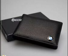 BMW Credit Card Holder Wallet in Black Leather !