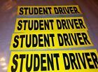 Student Driver Removable Sticker Decal Safety Car Sign set of 4