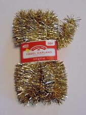 12 FT Gold 1.5 InchTINSEL GARLAND CHRISTMAS Mardi Gras St.Pats Day  DECORATION
