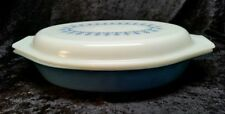 ~~MINT~~PYREX SNOWFLAKE BLUE DIVIDED DISH WITH LID~~MINT~~